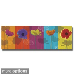 Tandi Venter 'Poppylicious' Canvas Art
