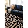 Meticulously Woven Black/White Zebra Aquila Animal Print Rug (5'3 x 7'3)