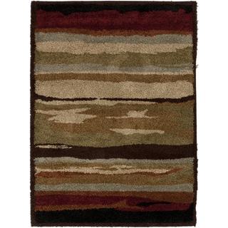 Asti Tan Abstract Stripe Rug (2' x 3')