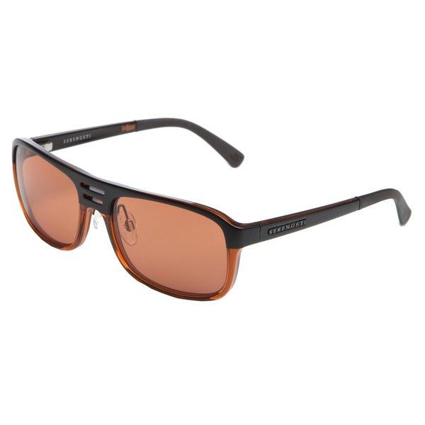 Serengeti Men's 'Lorenzo' Satin Brown and Cognac Sunglasses