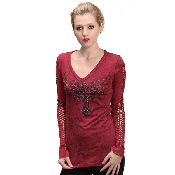 Cotty On Women's Rope-sleeve Stud Embellished Top