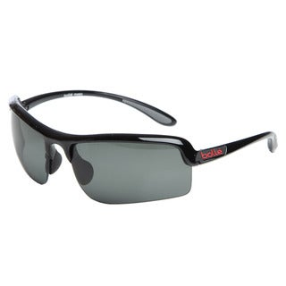 Bolle Men's 'Vitesse' Shiny Black Sport Frame Polarized Sunglasses