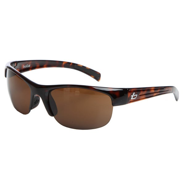 Bolle Men's 'Aero' Tortoise Sport Frame Sunglasses