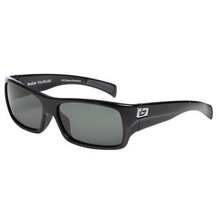 Bolle Men's 'Oscar' Shiny Black Rectangular Sport Sunglasses