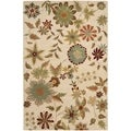 Handmade Soho Ivory New Zealand Wool Rug