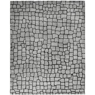 Safavieh Handmade Terra Grey New Zealand Wool Rug (7'6 x 9'6)