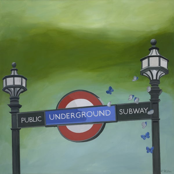 Lacey Shelton 'London Underground' Art Print
