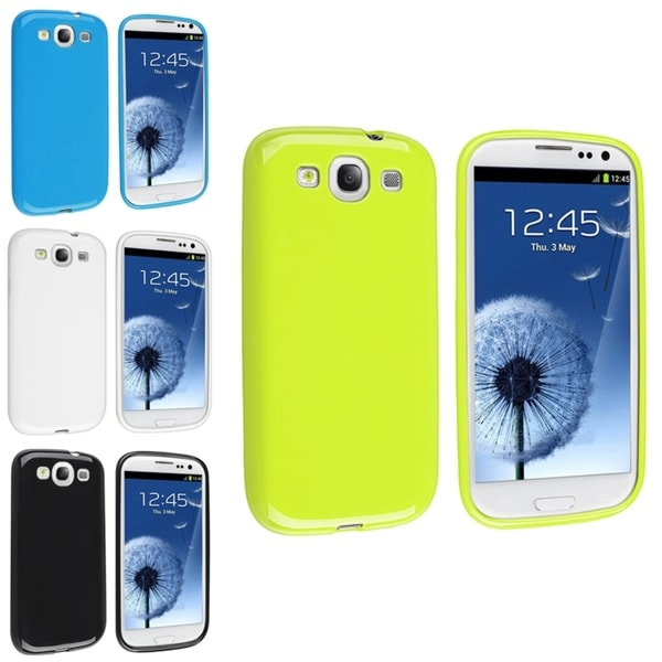 INSTEN Black/ White/ Blue/ Green Phone Case Cover for Samsung Galaxy S III/ S3