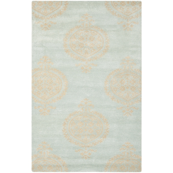 Safavieh Handmade Soho Blue/ Beige New Zealand Wool Rug