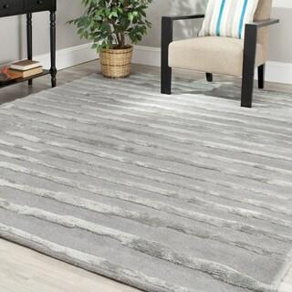 Safavieh Handmade Soho Stripes Grey New Zealand Wool Rug (9' x 12')