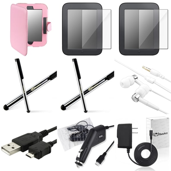 BasAcc Case/ Protector/ Headset/ Chargers for Barnes & Noble Nook 2
