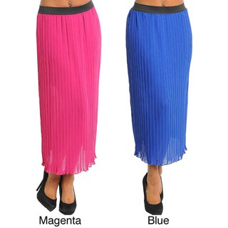 Stanzino Women's Pleated Long Skirt
