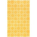 Hand-tufted Yellow Tiles Outdoor Rug (5' x 7'6)