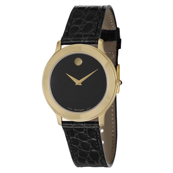 Movado Men's 'Museum' Yellow Goldplated Swiss Quartz Watch