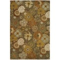 Handmade Soho Gardens Brown/ Multi New Zealand Wool Rug (6' x 9')
