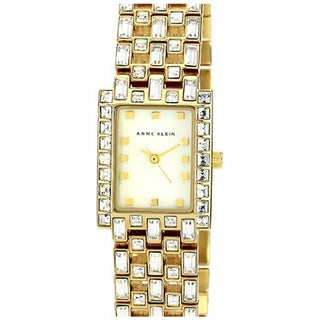 Anne Klein Women's AK-1056MPGB Goldtone Mother-Of-Pearl Analog Watch