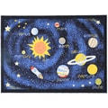 Printed Kids Solar System Black and Blue Area Rug (3'3 x 4'7)