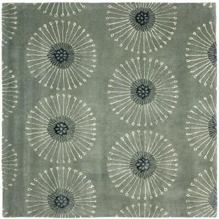 Handmade Soho Zen Grey/ Ivory New Zealand Wool Rug (8' Square)