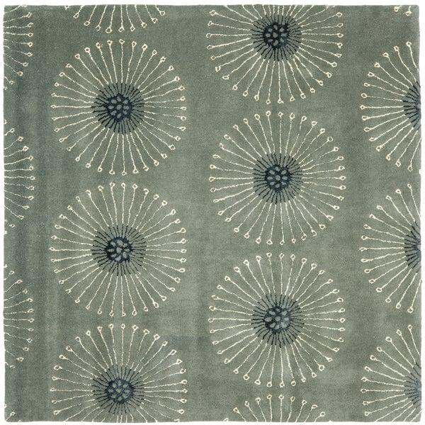 Safavieh Handmade Soho Zen Grey/ Ivory New Zealand Wool Rug (8' Square)