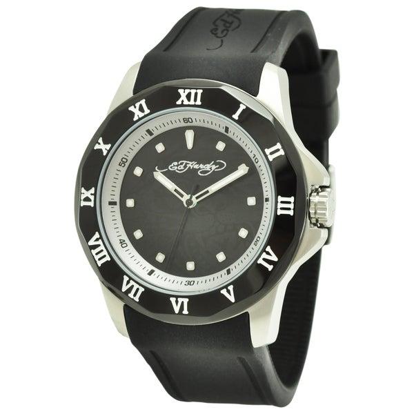Ed Hardy Men's Roman Black Quartz Watch