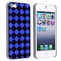 BasAcc Black/ Blue Checker Snap-on Case for Apple iPhone 5