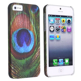 BasAcc Peacock Feathers Rear Snap-on Case for Apple iPhone 5
