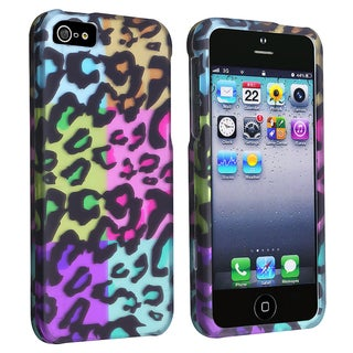 BasAcc Colorful Leopard Cheetah Print Snap-on Case for Apple iPhone 5