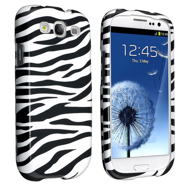 BasAcc Black/ White Zebra Case for Samsung Galaxy S III/ S3