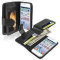 BasAcc Black Leather Case with Wallet for Apple iPod 5th Generation