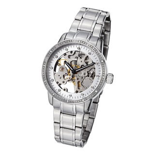 Stuhrling Original Women's Lady Delphi Automatic  Crystal Bracelet Watch