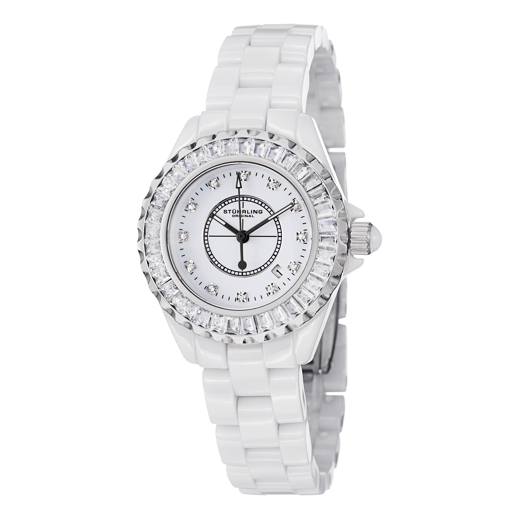 Stuhrling Original Women's Glamour II Quartz  Crystal Ceramic Bracelet Watch at Sears.com
