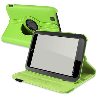 BasAcc Green Leather Swivel Case for Barnes & Noble Nook HD