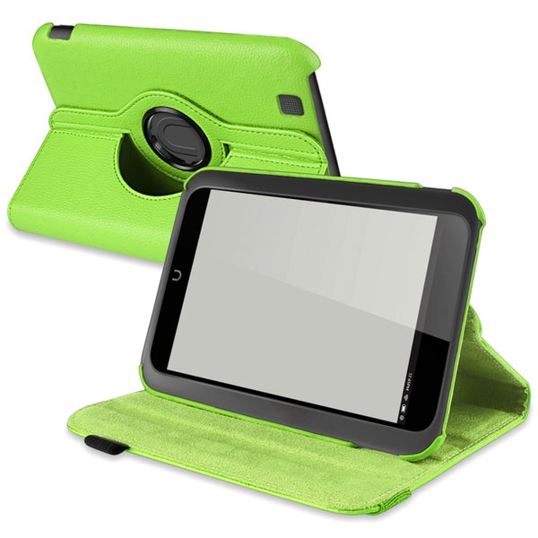INSTEN Green Leather Swivel Phone Case Cover for Barnes & Noble Nook HD
