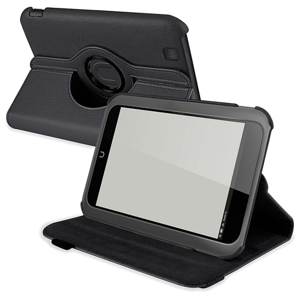 INSTEN Black Leather Swivel Phone Case Cover for Barnes & Noble Nook HD