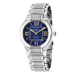 Stuhrling Original Men's Tribune Quartz Stainless Steel Bracelet Watch