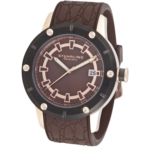 Stuhrling Original Men's Torino Quartz Rubber Strap Watch