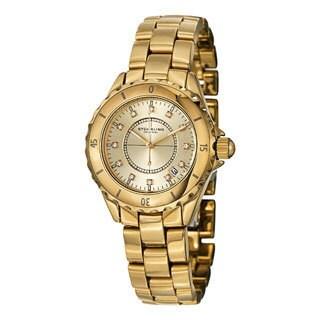 Stuhrling Original Men's Divinity Quartz Crystal Ceramic Bracelet Watch