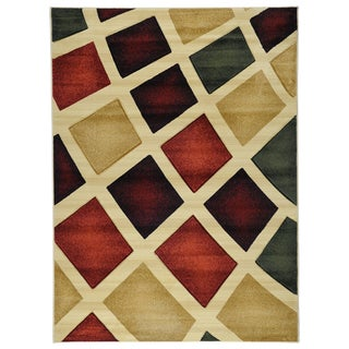 Hand Carved Moderno Contemporary Abstract Multi-Color Area Rug (5'3 x 7'3)