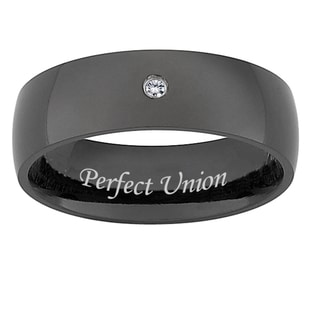 Black Titanium Men's Diamond Accent 'Perfect Union' Band (J-K, I3)