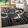 Handmade Elegance Grey/ Orange New Zealand Wool Rug (2' x 3')
