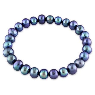 Miadora Black Pearl Stretch Bracelet (7-8 mm)