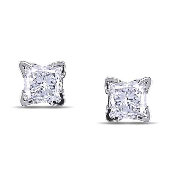 Miadora 14k White Gold 1/2ct TDW Diamond Stud Earrings (G-H, SI1-SI2)