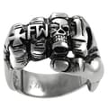 Vance Co. Men's Stainless Steel Fist Biker Ring