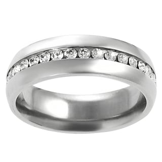 Vance Co. Men's Stainless Steel Cubic Zirconia Ring
