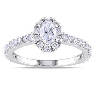 Miadora 14k White Gold 1ct TDW Round-cut Diamond Ring (G-H, I1-I2)