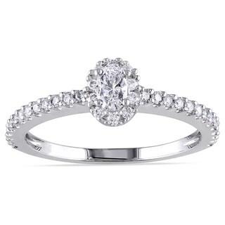 Miadora 14k White Gold 1/2ct TDW Diamond Ring (G-H, I1-I2)