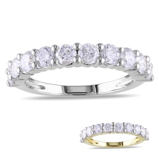 Miadora 14k Gold 1 1/2ct TDW Certified Diamond Semi-Eternity Ring (G-H, I1-I2)