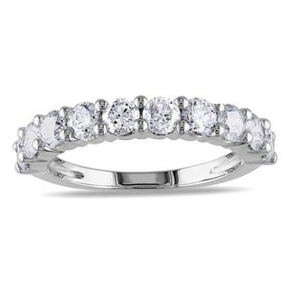 Miadora 14k Gold 1 1/2ct TDW Certified Diamond Semi-Eternity Ring (G-H, I1-I2)