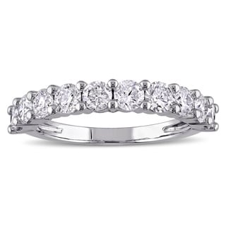 Miadora Signature Collection 14k Gold 1 1/2ct TDW Certified Diamond Semi-Eternity Ring (G-H, I1-I2)