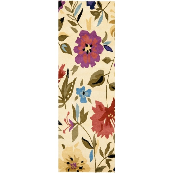 Safavieh Handmade Summer Ivory New Zealand Wool Rug (2'6 x 12')